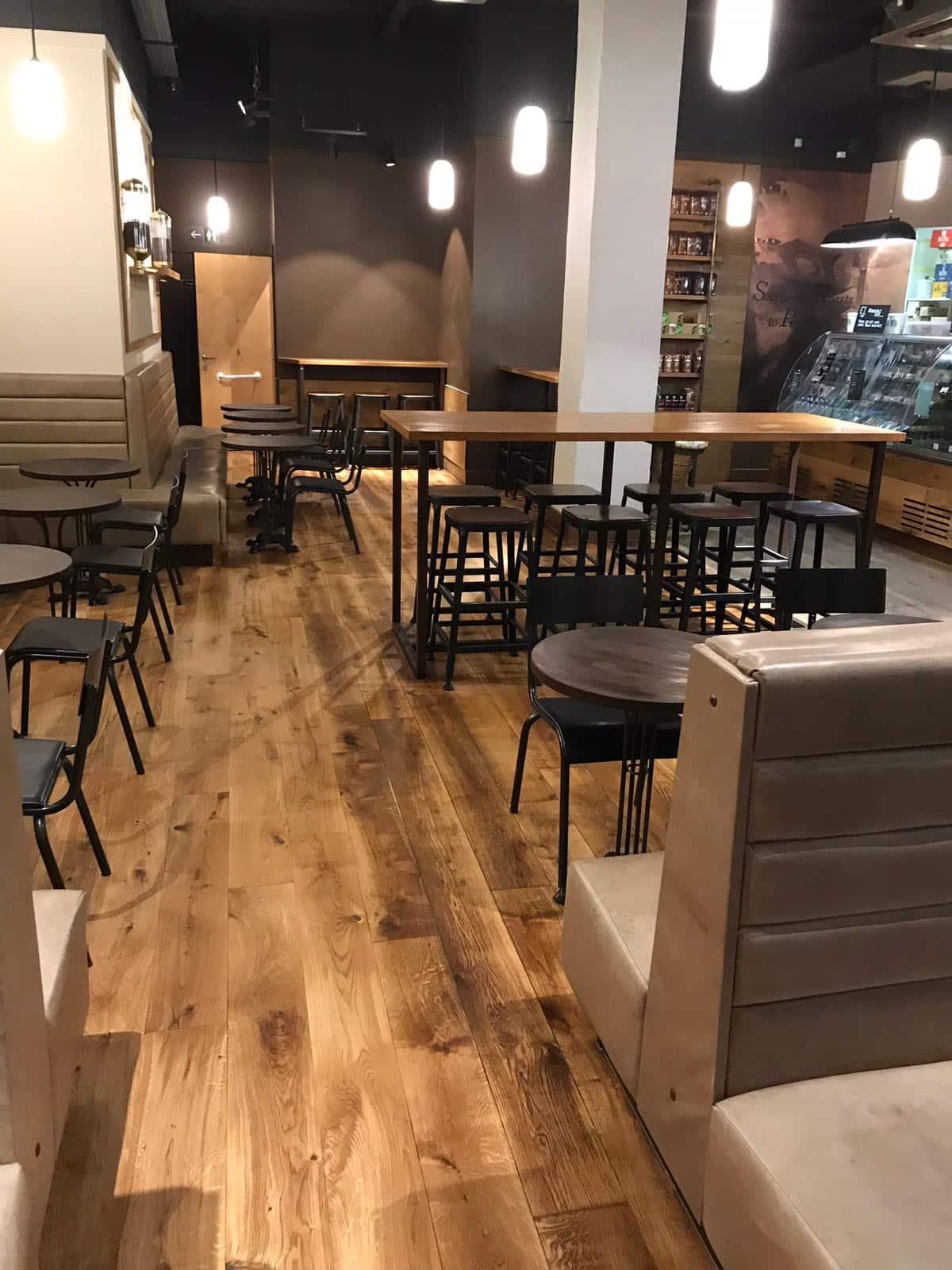 Renovated floor at Starbucks Manchester